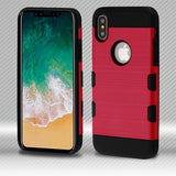 For iPhone XS/X Brushed TUFF Trooper Hybrid Shockproof Impact Armor Protector