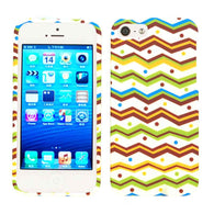 Chevron Zig Zag Brown/Green/Blue/Orange Hard Slim Protector Case for iPhone 5