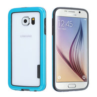 For G920 Galaxy S6 Black/Solid Blue MyBumper Phone Protector Cover