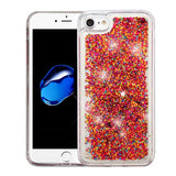 For iPhone 7 / 8  Quicksand Liquid Bling Glitter Hybrid Protector Case Cover