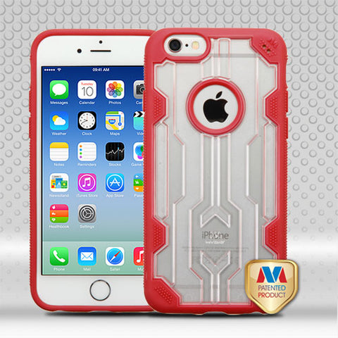 For iPhone 6s/6 Transparent Clear/Red Challenger Hybrid Protector Cover