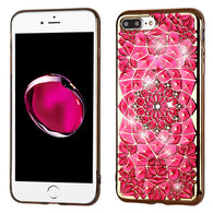 For iPhone 7 / 8 Plus Electroplated Diamante Candy Skin Shell Armor Case Cover