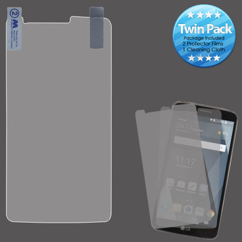 For LG Stylo 3 Clear LCD Screen Protector Film Cover Guard Twin Pack
