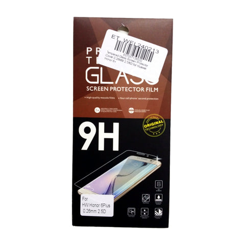 Tempered Glass Screen Protector Cover 0.26MM 2.5RD for Huawei Honor 6+