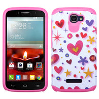 For One Touch Fierce II Hard Design +Silicone Cover Protector Case