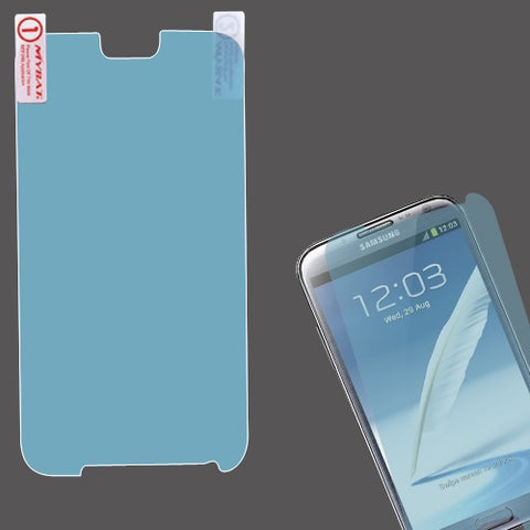 Blue LCD Screen Cover Protector Film with Cloth Wipe for Samsung Galaxy Note II