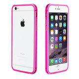 For iPhone 6s Plus/6 Plus Hot Pink Hybrid Aluminum Surround Shield