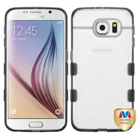 For G920 Galaxy S6 Glassy Transparent Clear/Transparent Gray Gummy Cover