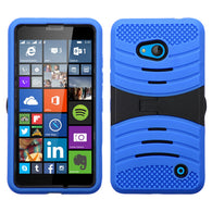 For Microsoft Lumia 640 Hybrid +Silicone Protector Cover Case +Stand