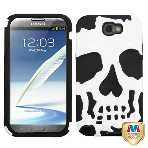 Skull Case +Silicone Cover Protector Case for Samsung Galaxy Note 2