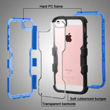 For iPhone SE/5s/5 TUFF Vivid Hybrid Protector Cover w/Black Horizontal Holster