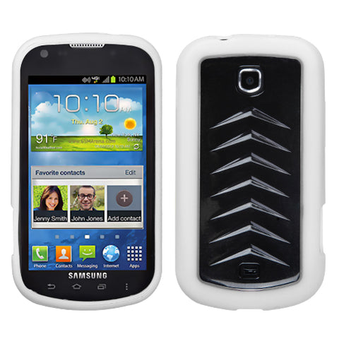 For I200 Stellar Solid Black/Solid White Silicone Gummy Protector Cover Case