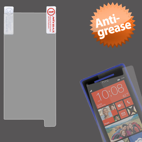 Clear Anti-grease LCD Screen Protector Cover for HTC 6990LVW Windows 8X