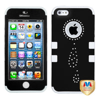 3 Piece Bling Diamonds Cover Hybrid Protector TUFF Case for iPhone 5