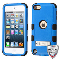 For iPod Touch 5th / 6th Gen Dark Blue/Black TUFF Hybrid Protector Case Stand
