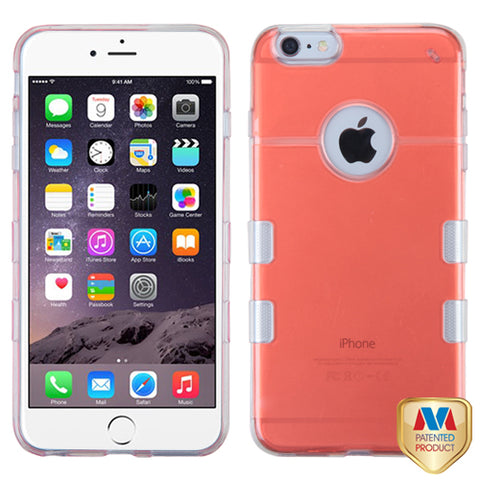 For iPhone 6s Plus/6 Plus Transparent Red/Transparent Clear Gummy Cover