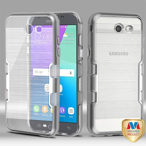 For Samsung Galaxy J3/Emerge/Sol 2 TUFF Brushed Panoview Hybrid Protector Cover