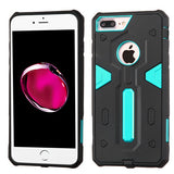 For iPhone 7 / 8 Plus Warrior Hard Silicone Armor Hybrid Protector Cover Case