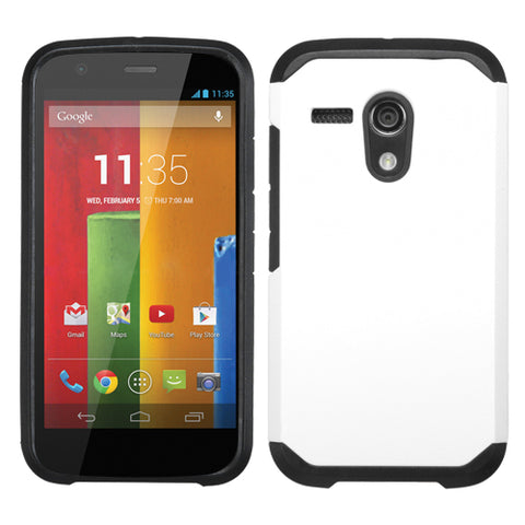 For Moto G White/Black Hybrid Astronoot Phone Protector Cover Case