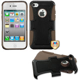 For iPhone 4s/4 Natural Black/Brown Frosted Fusion Protector Cover