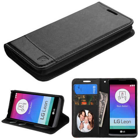 For RISIO, C40 Leon/H320 Black/Black MyJacket wallet (with card slot)