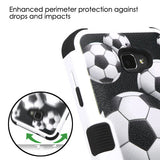 For Coolpad Catalyst Soccer Ball Collage/Black TUFF Hybrid Protector Case Cover