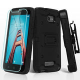 For Coolpad Defiant 3632 Black 3-in-1 Kinetic Hybrid Protector Case Cover Combo