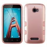 For Coolpad Defiant 3632 Rose Gold/Rose Gold TUFF Hybrid Phone Protector Cover