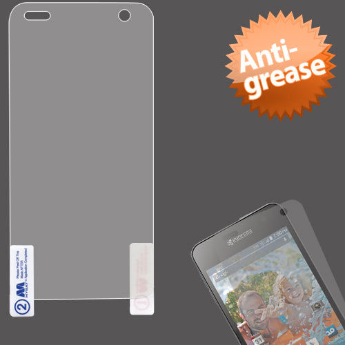 Anti Grease LCD Screen Protector Cover Film +Wipe for KYOCERA C6725 Hydro Vibe