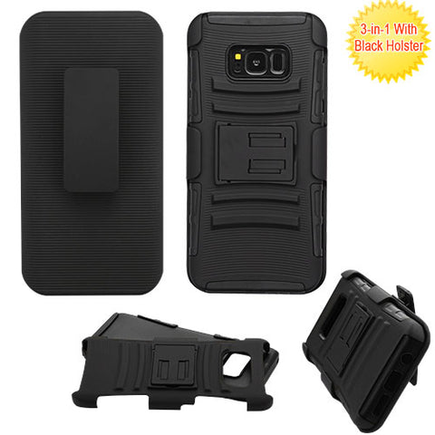 For Samsung Galaxy S8 Plus Advanced Armor Stand Protector Cover with Holster