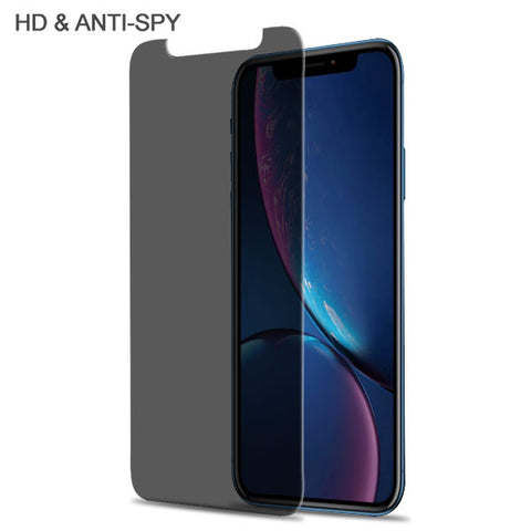 For iPhone XR Privacy Tempered Glass Screen Protector Impact Shield Cover (2.5D)