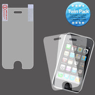 2x LCD Screen Cover Protector Film with Cloth Wipe for iPhone 3GS/3G