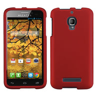 For 7024W One Touch Fierce Titanium Solid Red Phone Protector Cover