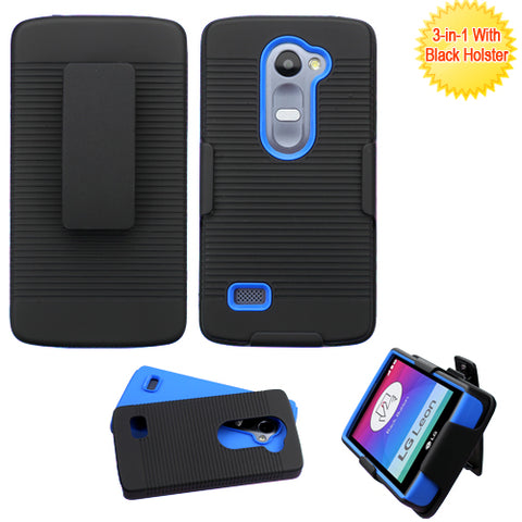 For RISIO, C40 Leon/H320 Black/Dark Blue Advanced Armor Case Cover (+Holster)