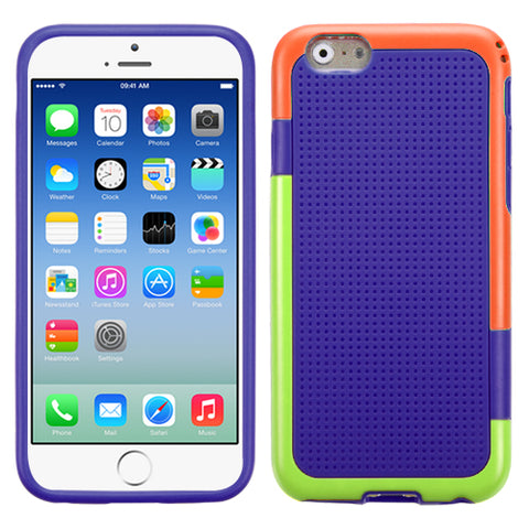 For iPhone 6s/6 (Orange/Green)/Purple Gummy Protector Cover Case