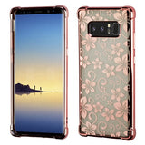 For Samsung Galaxy Note 8 Sheer Glitter TPU Rubber Slim Candy Skin Case Cover