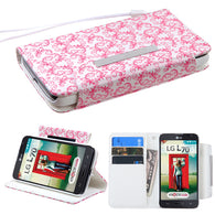Book Style MyJacket Wallet Cover Case w/Wristlet for LG Optimus Exceed 2, L70