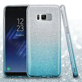 For Samsung Galaxy S8 Plus Glitter Hybrid Impact Phone Protector Case Cover