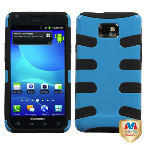 For I777 Galaxy S II Natural Turquoise Fishbone Phone Protector Cover