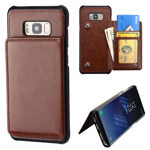 For Samsung Galaxy S8 Flip Wallet Phone Executive Protector Cover Case