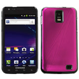 For i727 Galaxy S II Skyrocket Hot Pink Cosmo Back Protector Cover