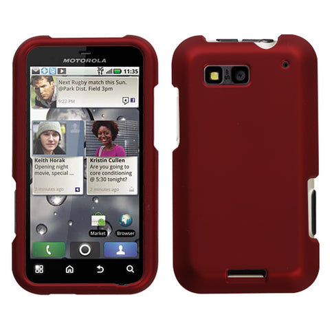 For MB525 Defy Titanium Solid Red Hard Snap On Phone Protector Cover Case