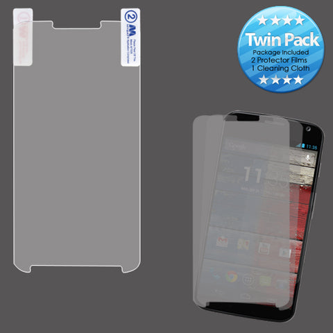 Twin (2) Pack Clear LCD Screen Protector Cover Film for MOTOROLA: MOTO X+1
