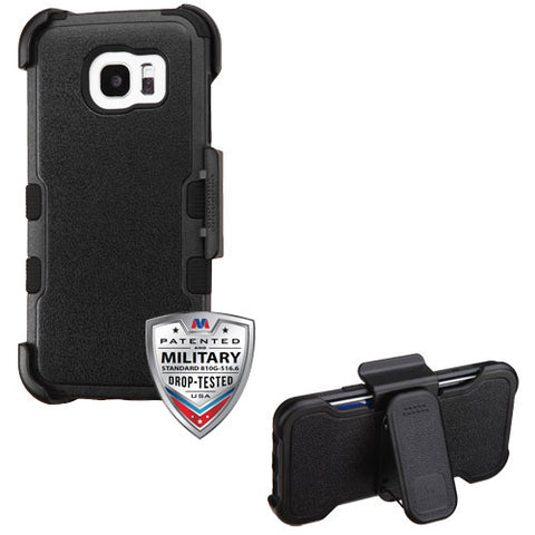 For Samsung Galaxy S7 Edge TUFF Shockproof Hybrid Phone Cover w/Stand & Holster