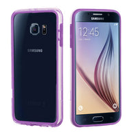 For G920 Galaxy S6 Purple/Transparent Clear MyBumper Phone Protector Cover