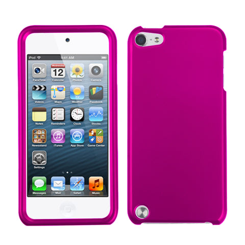 For iPod touch 6th GEN, 5th GEN Titanium Solid Hot Pink Phone Protector Cover
