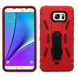 Impact Hard Case +Rugged Silicone Case Cover w/Stand for Samsung Galaxy Note 5