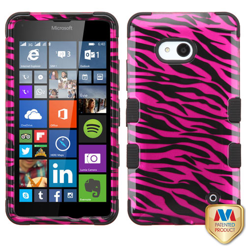2D Design Case +Silicone Protector TUFF Cover for Nokia Lumia 640