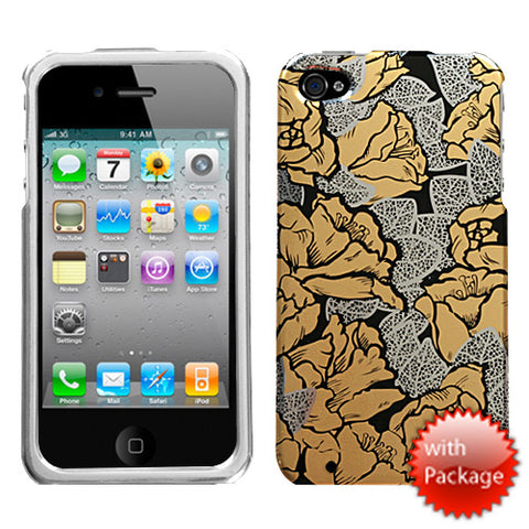 For iPhone 4s/4 Thriving Roses Reflex Hard Snap On Phone Protector Cover Case