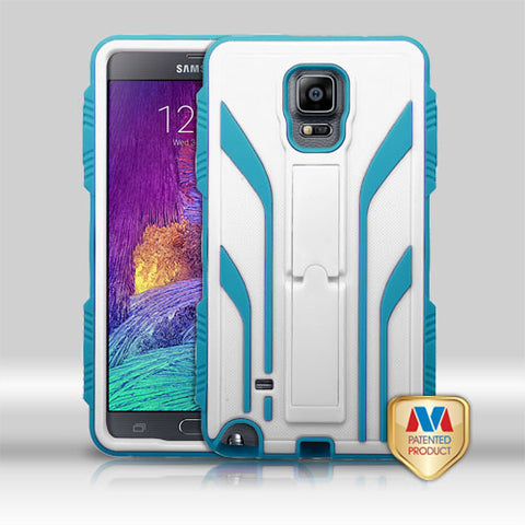 For Galaxy Note 4 Cream White/Tropical Teal TUFF Extreme Hybrid Case Cover